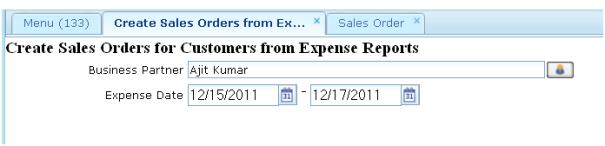Create Sales Order