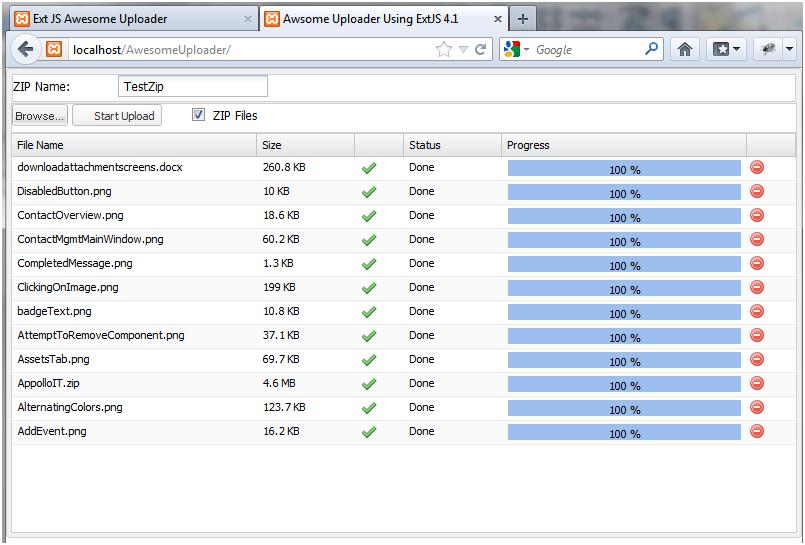 Upload Files using Awesome Uploader |