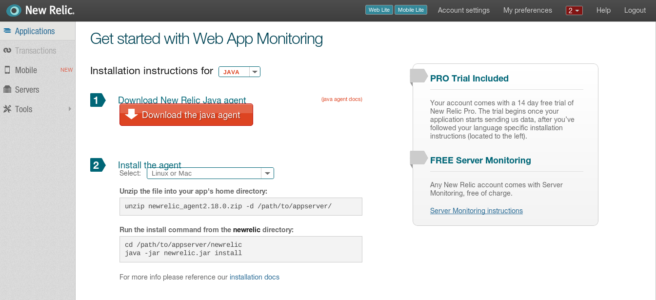 ADempiere application performance measurement using New Relic |