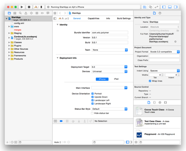 Xcode with Polymer