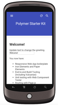 Android Application using Polymer 10