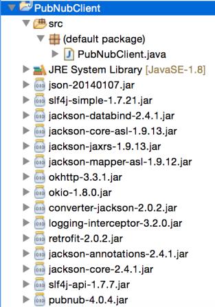 PubNub dependency JARs