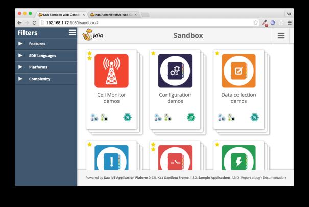 Kaa Sandbox Applications