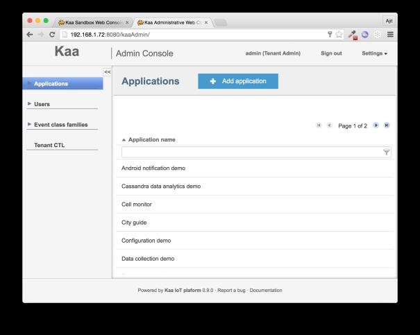 Kaa Add Application