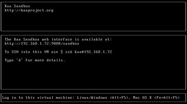 VirtualBox Kaa Sandbox Ubuntu